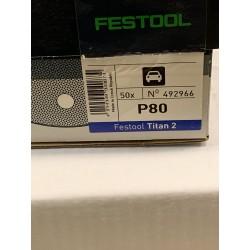 Festool brusný kotouč Titan2 D125/90,P80 - 492966