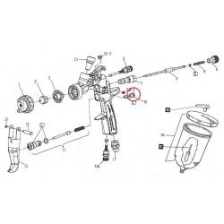 Těsnící šroub pro jehlu pro stříkací pistoli Anest Iwata-W2010140600