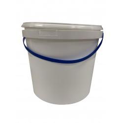 AllorA Plastový kbelík s víkem, bílý, 5 l - 004934