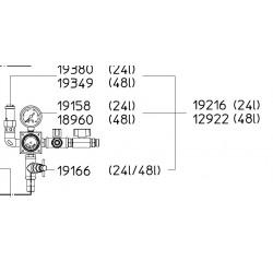 SATA Regulátor tlaku pro tlakové nádoby 24l SATA 19216