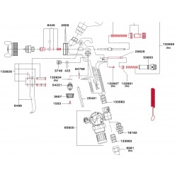 SATA Plastová vzduchová hadice pro BVD a míchací misku SATA 20461