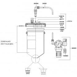 SATA Tlakový šálek s víkem [pro SATA GR / BVD 0