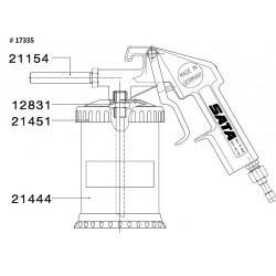 SATA Výfuková trubka s karbidovou vložkou  k tryskací pistoli SATA 21154