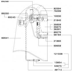 SATA Spodní část (balicí jednotka 2 kusy) [pro SATA vision 2000] SATA 21865