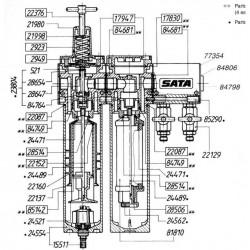 SATA pouzdro ventilu [pro SATA filtr řady 300] SATA 21980