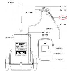 """SATA Kulový kohout (teflon) 1/4 """"(vnější závit) x G 1/4"""" SATA 27631"""