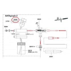 SATA Plastové víko 3ks [pro gravitační kalíšek SATA graf 2] SATA 32029