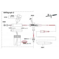 SATA 15 ml skleněná nádoba s víkem s sací trubičkou SATA 33019