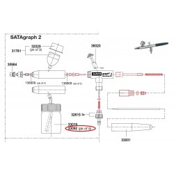 SATA 15 ml skleněná nádoba se zasouvacím víkem a připojením SATA 33092