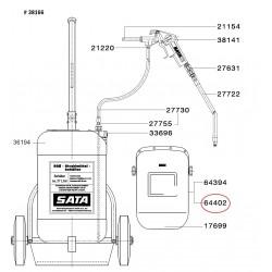 SATA Skleněná clona (5 kusů) [pro HMO kryt] SATA 64402