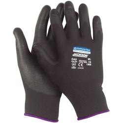 Černé rukavice potažené polyuretanem