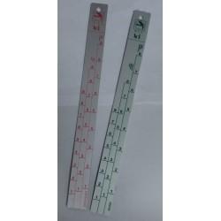 Hliníková měrka 35 cm